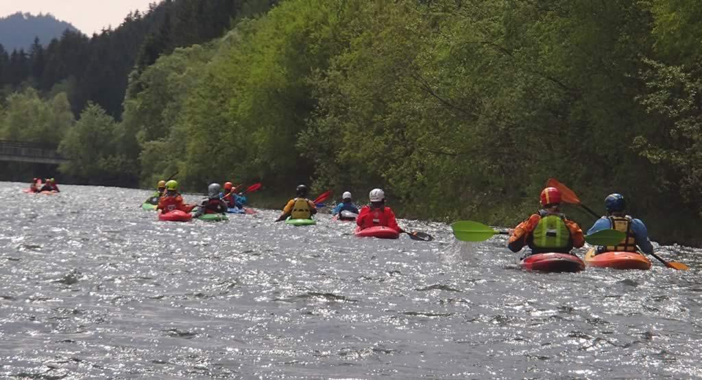 Wildwasserfahrt auf der Möll