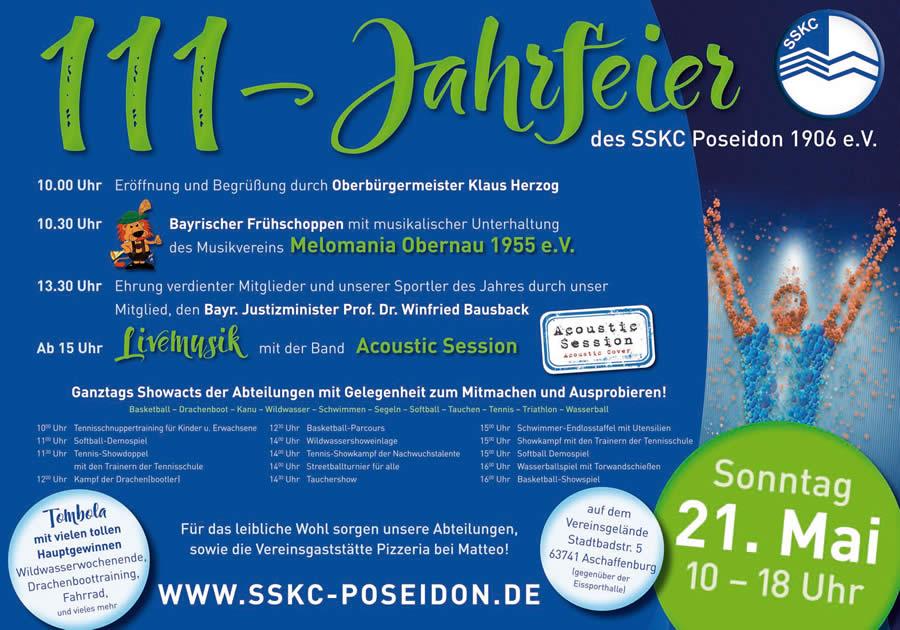 111 Jahre SSKC Aschaffenburg - Programm